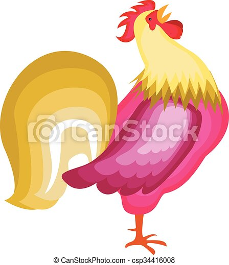 Cartoon rooster - csp34416008