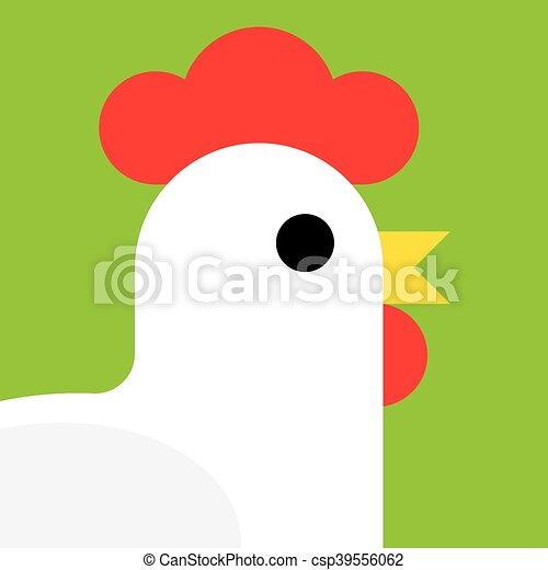 cartoon rooster vector illustration. - csp39556062