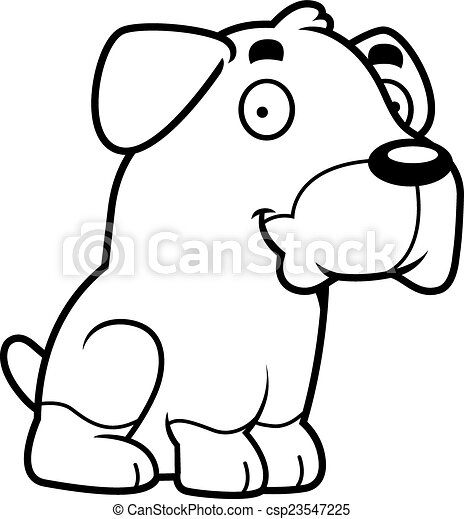 cartoon rottweiler sitting a cartoon illustration of a vector rh canstockphoto com rottweiler dog clipart rottweiler clipart black and white