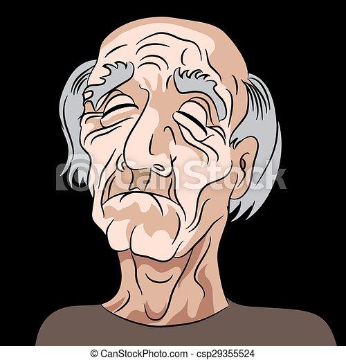 Cartoon sad depressed old man an image of a sad elderly vector cartoon sad depressed old man csp29355524 voltagebd Choice Image