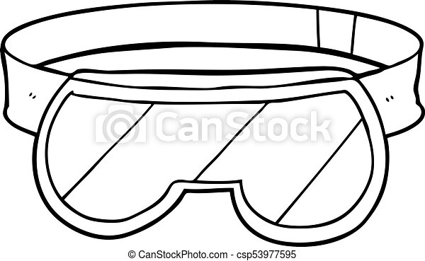 cartoon safety goggles eps vectors search clip art illustration rh canstockphoto com