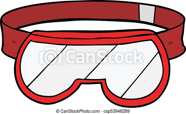 cartoon safety goggles vector search clip art illustration rh canstockphoto com wear safety goggles clipart safety eyewear clipart