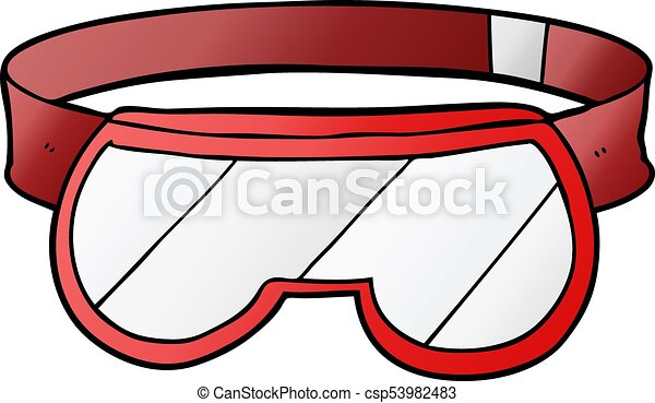 cartoon safety goggles vector search clip art illustration rh canstockphoto com  safety eyewear clipart