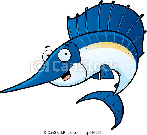 Cartoon Sailfish - csp5169569
