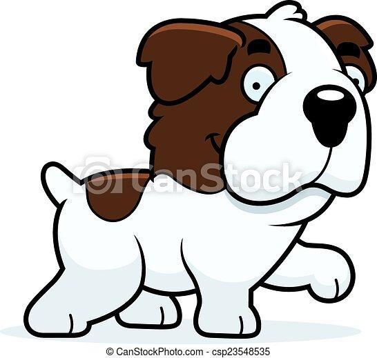 Cartoon Saint Bernard Walking - csp23548535