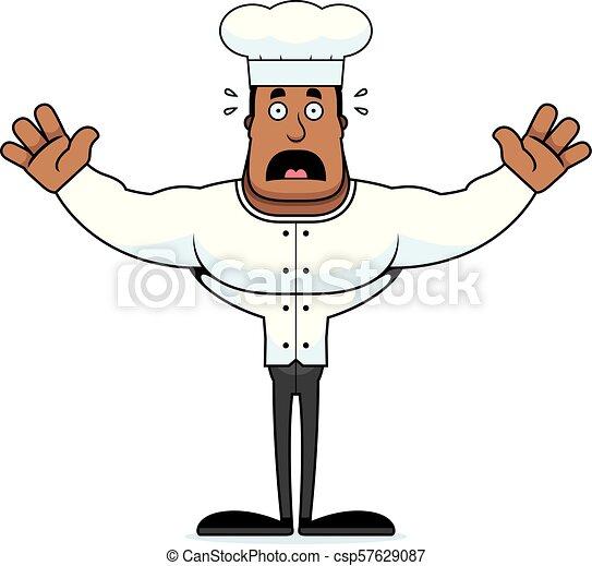 Cartoon Scared Chef - csp57629087