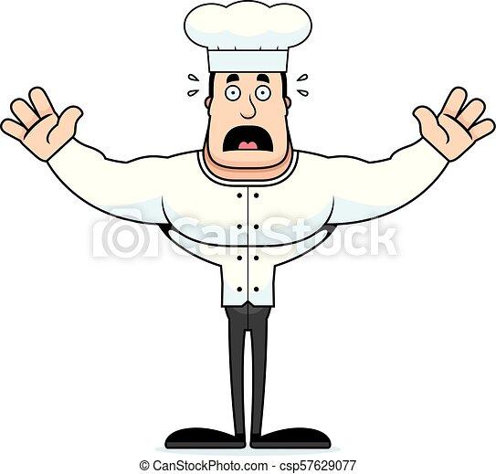 Cartoon Scared Chef - csp57629077