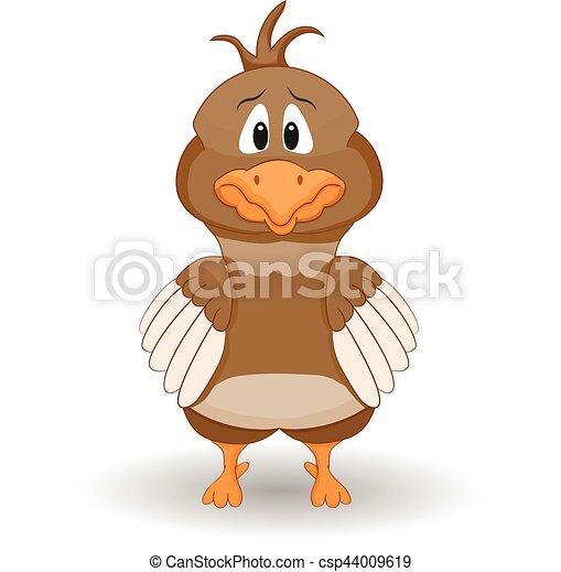 Cartoon Scared Chicken - csp44009619