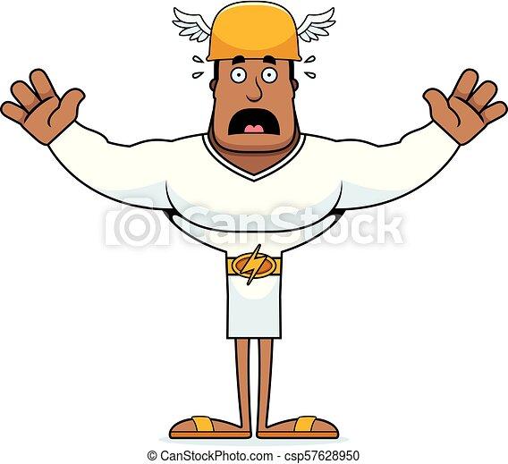 Cartoon Scared Hermes - csp57628950