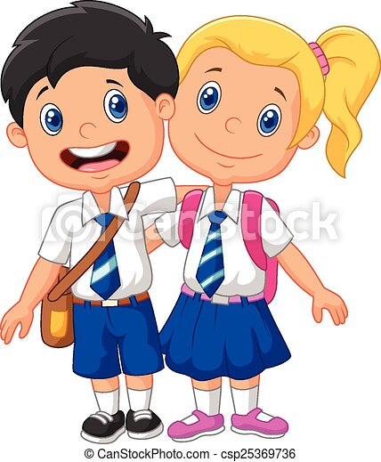 vector illustration of cartoon school children vectors search clip rh canstockphoto com