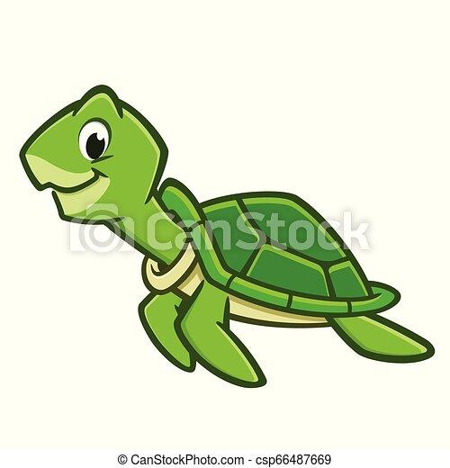 Cartoon Sea Turtle - csp66487669