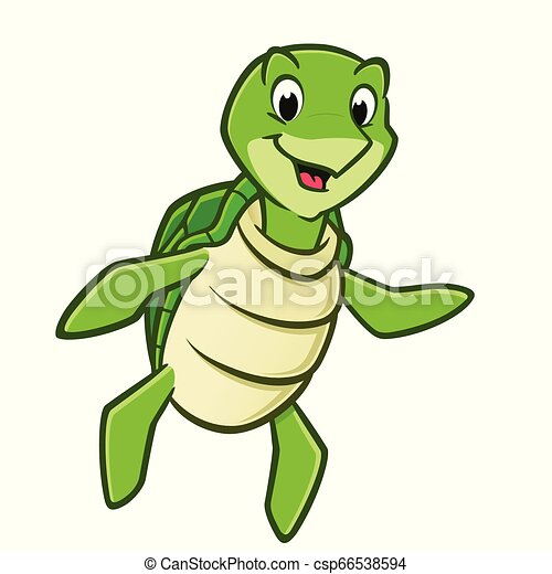 Cartoon Sea Turtle - csp66538594