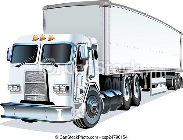 Cartoon Semi Truck - csp24796154