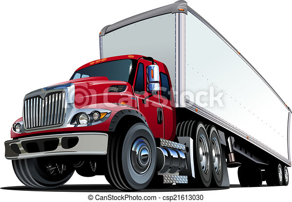 Cartoon semi truck - csp21613030