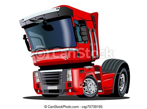 Cartoon semi truck isolated on white background - csp70739193