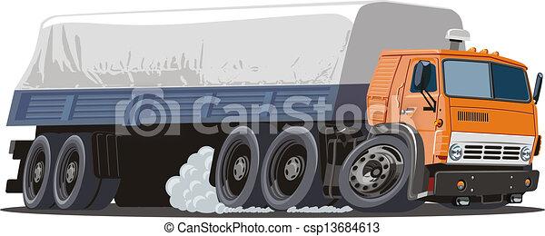 Cartoon semi truck - csp13684613