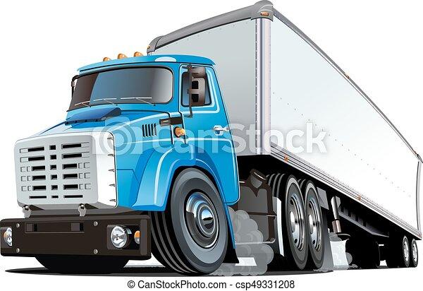 Cartoon semi truck - csp49331208