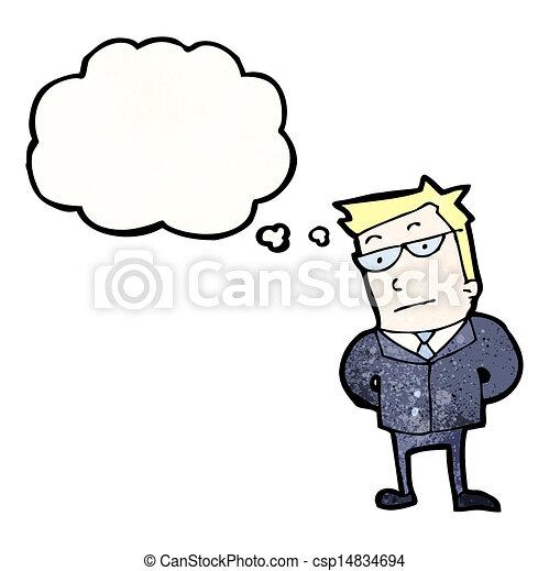 cartoon serious businessman - csp14834694