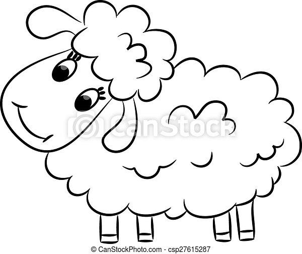 cartoon sheep vector illustration vector search clip art rh canstockphoto com sheep vector line sheep vector free