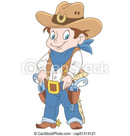 Cartoon sheriff boy - csp51314121