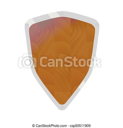 Cartoon shield vector - csp50511909