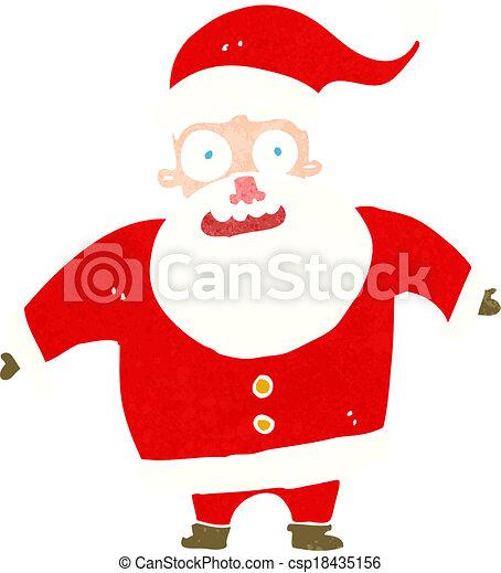 cartoon shocked santa claus - csp18435156