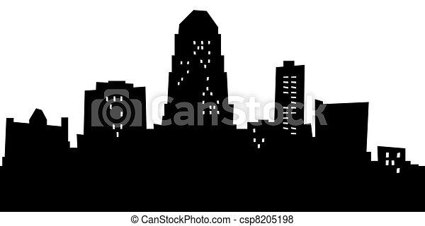 cartoon shreveport cartoon skyline silhouette of the city of rh canstockphoto com Shreveport LA Skyline Louisiana Skyline Ground View