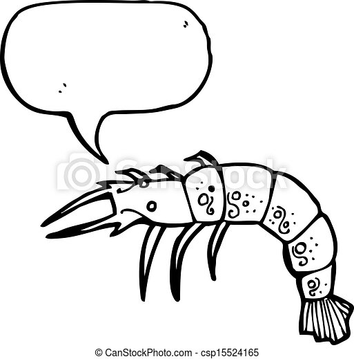 cartoon shrimp clip art vector search drawings and graphics images rh canstockphoto com Fish Clip Art Black and White Squid Clip Art Black and White