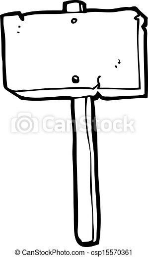 cartoon sign post - csp15570361