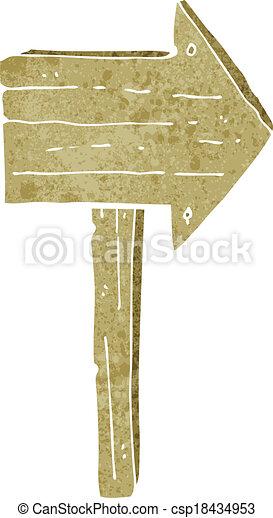 cartoon sign post - csp18434953