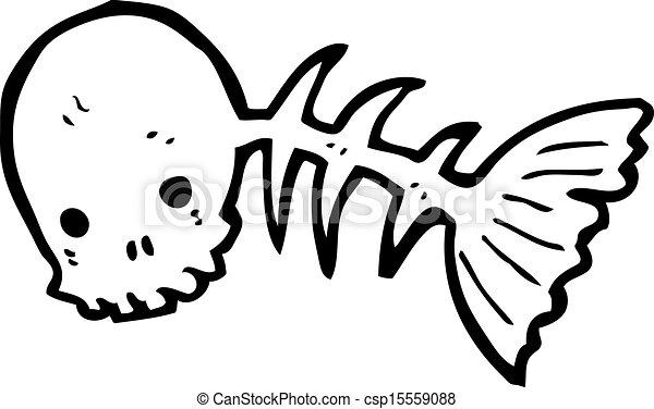 cartoon skeleton fish rh canstockphoto com  skeleton fish logo restaurant
