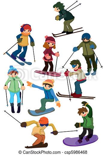 cartoon ski people icon . cartoon ski people icon vector - search