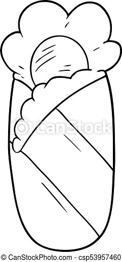 Cartoon Sleeping Bag Clip Art Vector
