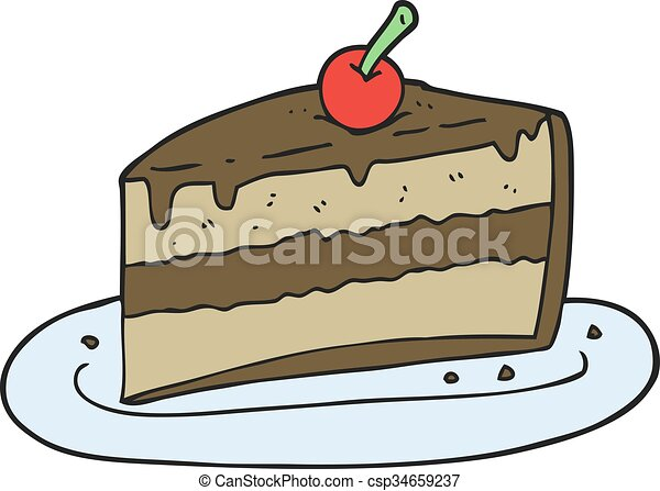 freehand drawn cartoon slice of cake vectors search clip art rh canstockphoto com slice of cake clipart black and white slice of cake clipart image