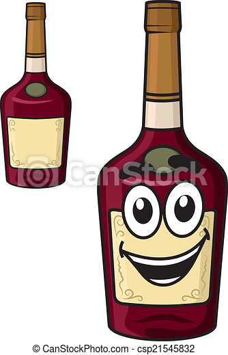 cartoon smiling alcohol bottle cartoon smiling alcohol beverage
