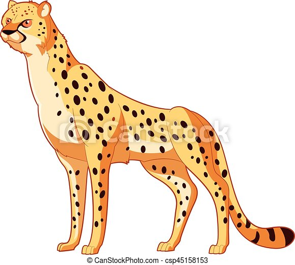 Cartoon smiling Cheetah - csp45158153