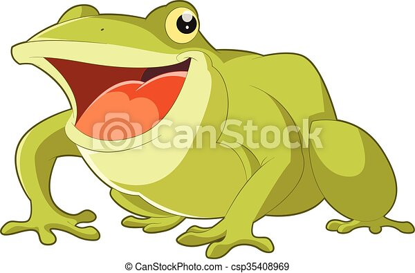 Cartoon smiling frog - csp35408969