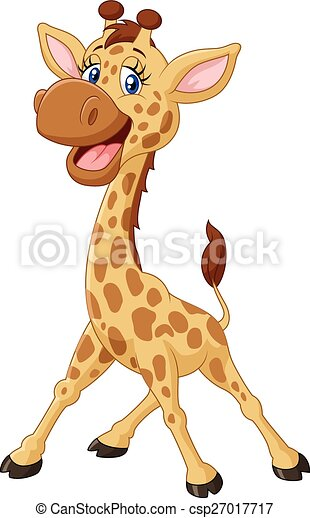 Cartoon smiling giraffe - csp27017717