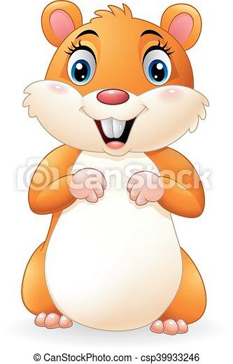 Cartoon smiling hamster - csp39933246
