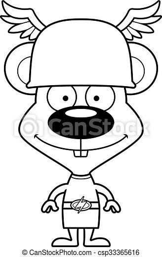 Cartoon Smiling Hermes Mouse - csp33365616