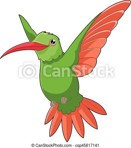 Cartoon smiling Hummingbird - csp45617141