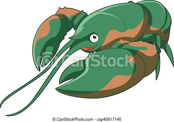 Cartoon smiling Lobster - csp45617140