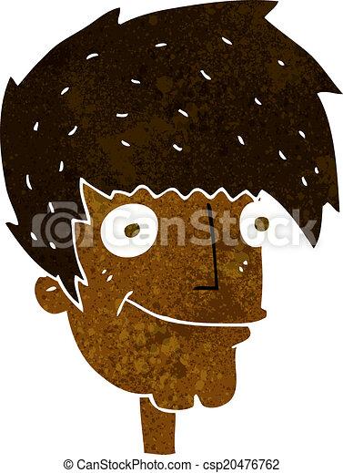cartoon smiling man - csp20476762