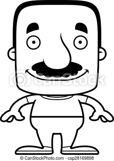 Cartoon Smiling Man - csp28169898