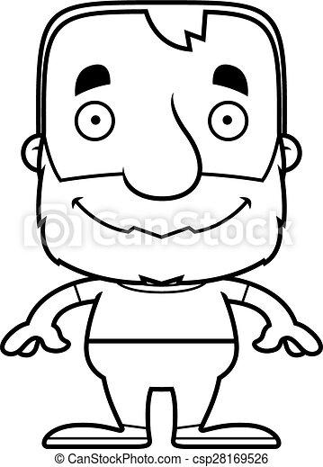 Cartoon Smiling Man - csp28169526