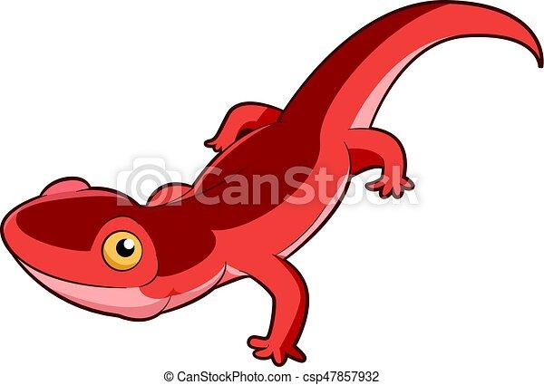vector image of the cartoon smiling newt vectors search clip art rh canstockphoto com Salamander Clip Art newt clipart black and white