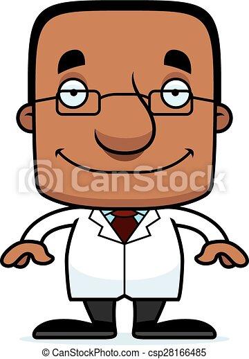 Cartoon Smiling Scientist Man - csp28166485