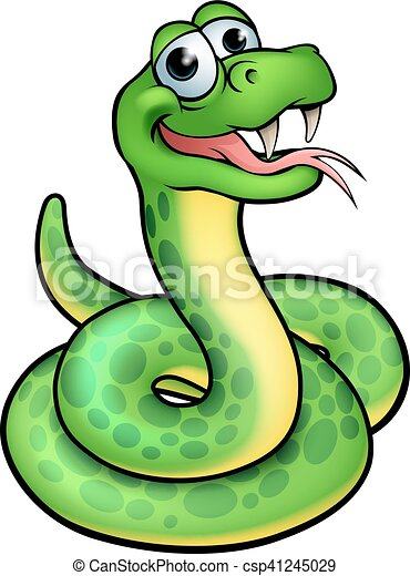 Cartoon Snake Character - csp41245029