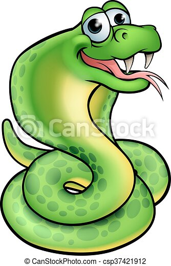 Cartoon Snake Cobra - csp37421912