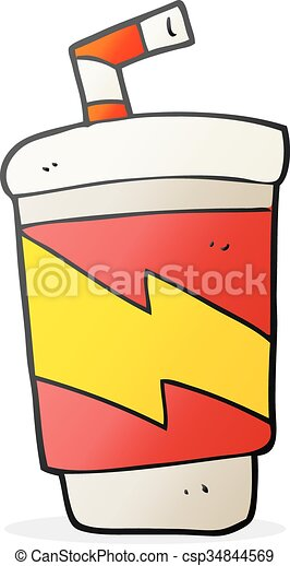 cartoon soda drink - csp34844569
